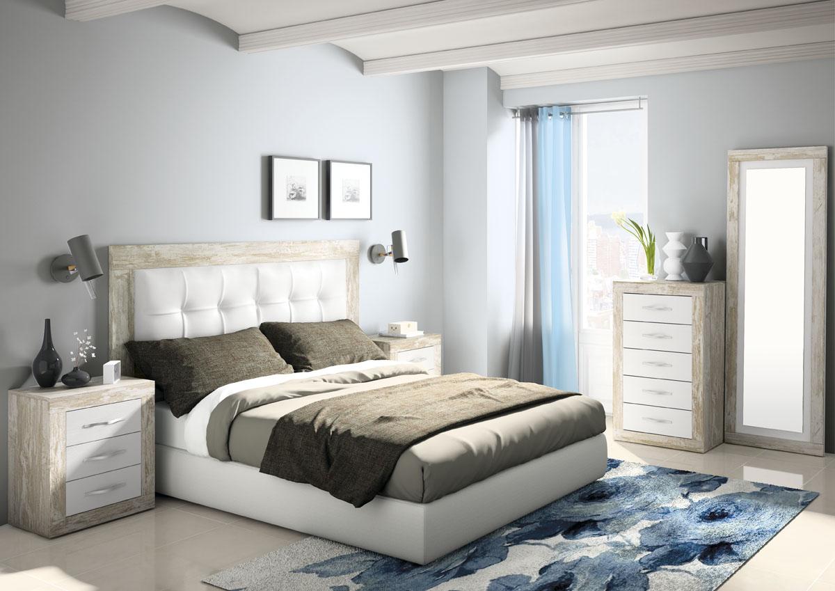 Dormitorio jordan 266 salon del mueble for Lamparas cabezal cama