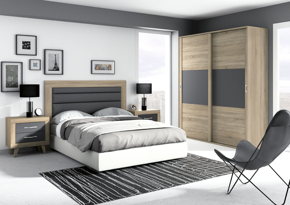 Dormitorio jordan 269 salon del mueble for Colores de muebles modernos