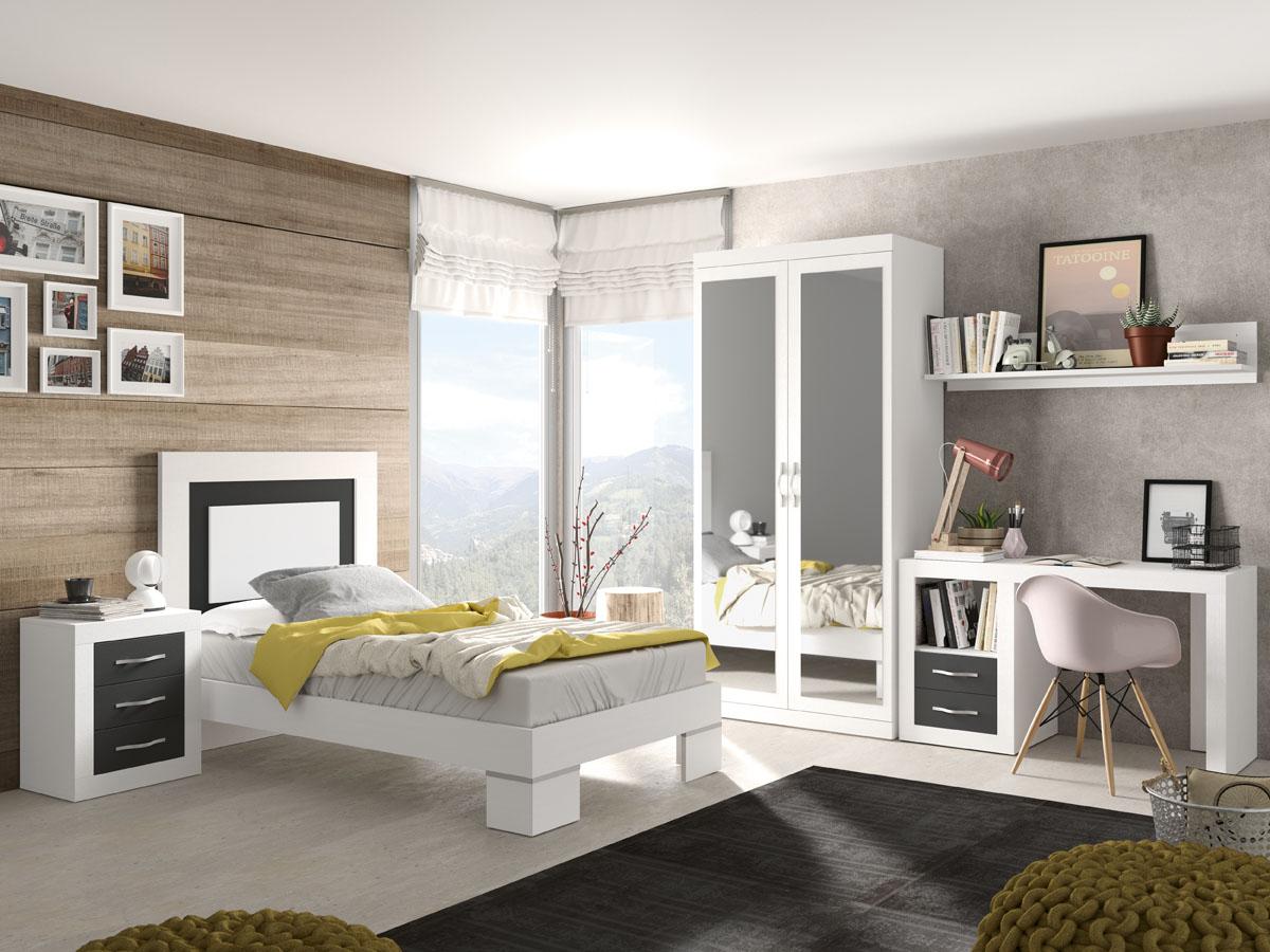 Dormitorio individual JORDAN 273 – Salon del Mueble