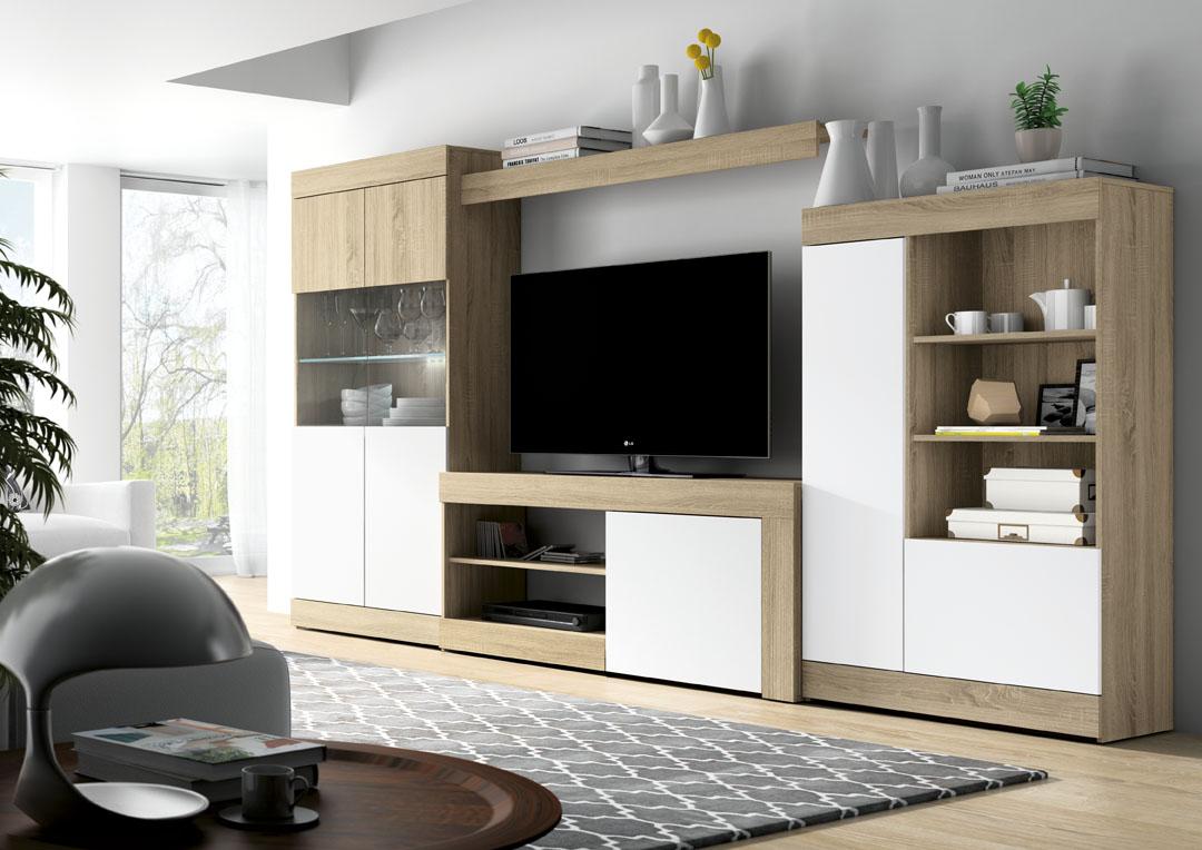 Composici n kit logan 01 salon del mueble - Muebles de salon minimalistas ...
